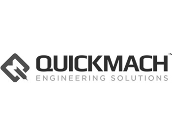 Quickmach engineering logo grey